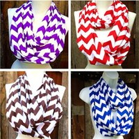 Wholesale Wave scarves Chevron Infinity winter Scarf scarfs for women and Teens Circle Loop scarf circle ring scarf cotton infinity scarves