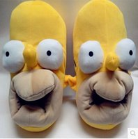 house slippers men - Winter New Novelty Cute Anime The Simpsons Homer Funny Slippers Adult House Home Slippers Warm Indoor Shoes for Unisex top sale new arrive