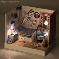 aviation furniture - Diy Wooden Miniature Doll House Furniture Toy Miniatura Puzzle Model Handmade Dollhouse Creative Birthday Gift Aviation Dream