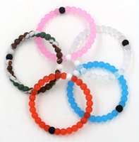 silicone bracelet - Hot Sales Red Blue Clear Pink Camo Colors Lokai Bracelet Pink Lokai Silicone Bead Bracelet lokai Silicone Find Your Balance Lokai jewelry