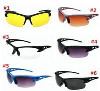 night vision goggles - 2014 Cheap new style fashion Night vision goggles sunglasses driving cycling UV polarized sunglass sport glass new brand men sun glasses