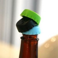 Cheap Drinks plug Wine Bottle Stopper Seasoning cork creative preservation cover Flex silicone bottle stoppers (6 PCs)