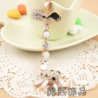 active key ring - Cool Hee diamond jewelry new special creative cute giraffe neck can be active car key ring