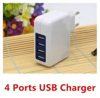 Wholesale 4 Port A USB Wall Charger AC power adapter w For iPhone Samsung LG IPAD Travel Adapter NEW
