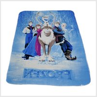 Wholesale Elsa Raschel Blanket Dairy queen elsa adventures Girls children s anime raschel blankets