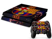 Cheap 1Pcs High-quality FCB PS4 Sticker 1 Console Skin and 2 Controllers skin For PS4