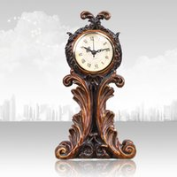 Wholesale Continental retro soft home decoration products creativity den clock table clock desk hotel sided clock Decoration