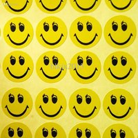 achat en gros de smiley face stickers wholesale-Wholesale-ABWE! 6 Cute Smiley Smile Face Enfants Récompense Merit Praise Stickers pour la fête scolaire