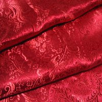 Wholesale Red Chinese brake flowers brocade fabric this dibon satin fabric costume outfit costume hanfu