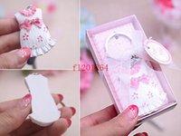 amazing wedding favors - Fedex DHL New Arrival Amazing Cute Little Dress Girl Keychain Wedding favors Gift