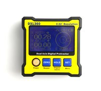 Wholesale Mini LCD Dual Axis DXL360 Digital Protractor Inclinometer Level Box Digital Angle Ruler with retail box