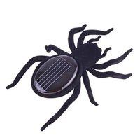 Wholesale Mini Solar Black Spider Robot For Fun Gift Educational Tool