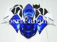 Wholesale Fairings Fit Kawasaki Ninja ZX R ZX6R Year Sportbike ABS Motorcycle Fairing Kit Bodywork Cowing Monster Cowing Blue White