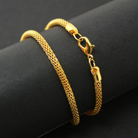 Wholesale 50pcs Jewelry Findings Chain Necklace cm Length Iron Material Plated Gold Silver Rhodium Snake Chains Fit Charm Pendants DH FLB001