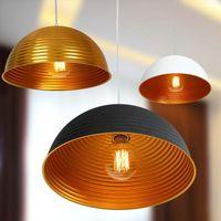 aluminium half round - contemporary Contracted stye black aluminium lampshade Half round droplight