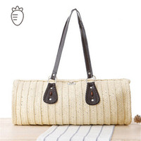 big bag sand - beach bag large big women handbags new arrival straw bags solid women sand sea shoulder bags leather tote high quality bag