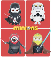 Wholesale 4pcs set Minions Cos Star Wars Action Figures Despicable Me Minions Dolls PVC ACGN figure Brinquedos Anime CM