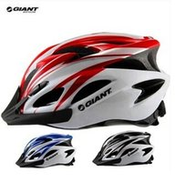 abs vent - GIANT Bike Helmet Integrated Vents Most Ultralight Outdoor Sports Cycling Helmet with Visor Mountain Road MTB Bike Bicycle Helmets