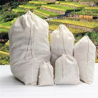Wholesale 5pcs Strong Mill Cotton Stuff Storage Drawcord Duffle Laundry Nappies Tidy Toys Drawstring Bag Nappies Craft