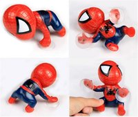 Wholesale 16CM Spider Man kids Toys Climbing Spiderman Window Sucker Spider Man Doll Car Home Interior Decoration color dhl