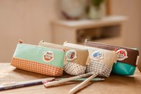 Wholesale Children s stationery Little monster pencil bag pen Pocket Cosmetic Bag makeup case Pouch super Gift