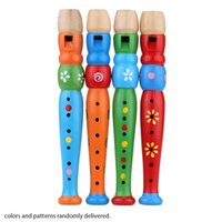 baby instrument - Wooden Piccolo Flute Sound Toy Musical Instrument Early Education Music Toy Gift for Baby Kid Random Delivery I1387