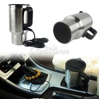 Wholesale 12V ml Stainless Steel Silver Car Mug Cup Electric Heated Auto Coffee Tea Travel Thermos