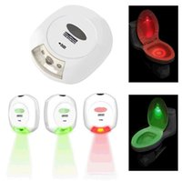 Wholesale LED Sensor ABS Toilet Light with Double side Sticker White