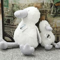 baby duck video - 25cm cm Super Soft Stripe White Duck Cute Stuffed Plush Toys Exported Version High Quality PP Cotton Adorable Gift Kids Baby Comforting