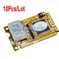 Wholesale 10Pcs in Mini PCI E Expresscard Mini PCI LPC Digit PC Analyzer Tester POST Card dropshipping