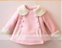 wool fabric coat - Children Coat Girl Lambs Wool Lining Suede Fabric Long Sleeve Outerwear T
