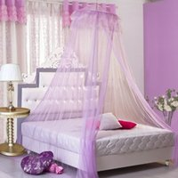 Wholesale Umiwe Instant Installtion Double Layer Round Lace Curtain Dome Bed Canopy Netting Princess Mosquito Net