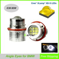 Wholesale 60W Cree XB D LM OBD Error Free Canbus LED Angel Eyes Lights Halo Bulb E39 for BMW E53 E60 M5 E61 E63 E64 M6 E65 E66 E87