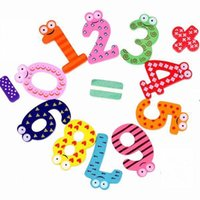 Wholesale Christmas Gift Set Number Wooden Fridge Magnet Education Learn Lovely and Nice Baby Toy