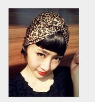 leopard headband - Leopard headband lady hair band headwear cloth Restore ancient ways turban