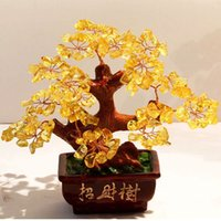Wholesale Factory Outlet Crystal Tree Pachira money tree opening gifts home accessories wedding gift ornaments