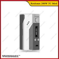Wholesale 100 Original Wismec Reuleaux W TC Mod Reuleaux TC200W Box Mod Powered By DNA TC VW Ecigarette Mods With OLED Screen