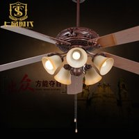 Wholesale American inch wooden fan ceiling lamp fancy ceiling fans with light for dining room