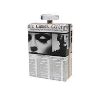 fashion magazine - 2016 Women Clutch Evening Bags Prints Magazine Leather Bag PU Perfume Bag Fashion Change Phone Purse Handbags