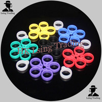 Wholesale 2014 New style e cig lanyard ring silicone rubber ring metal ring for evod battery lanyards ego necklace VS mod silicone ring ring