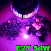 Wholesale 1X Led Plant light W E27 Led Hydroponic Plant Flowers Vegatables Green Led Grow Lights Plant Growing Lamp