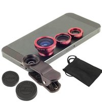 Wholesale Universal Fish Eye Lens Clip in Wide Angle Fisheye Mobile Phone Lens For iPhone S S lent para celular olho de peixe