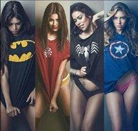 summer clothes for men - Hot Summer Men s clothing Music T Shirts Alliance Vengeance Iron Man Spider Man Batman United States Team leader Short sleeve for men