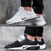 Wholesale Nike Air Presto BR QS Breathe Classical Black White Running Shoes for Men Women Cheap Original Air Presto Sport Shoe Hot Sale Size Eur