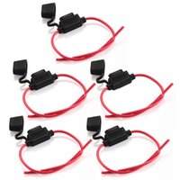 Wholesale Hot Sale set Car Inline Blade Fuse Holder Waterproof Middle sized Black Red New