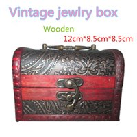 Wholesale hot sell Vintage style wooden jewelry box storage box more than styles FreeShipping