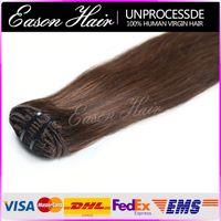 24 inch clip in human hair extensions - 16 inch Clip in Indian Hair Extensions Remy Human Hair Bleach Blond Silky Straight Virgin Hair