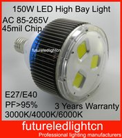 No ac factory store - 150w led high bay light e40 led high bay light mil led chip AC V meanwell driver led store lights