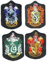 badge stock - harry potter badges embroidery badges harry potter patches Gryffindor Slytherin Ravenclaw Hufflepuff embroidered iron on patches in stock