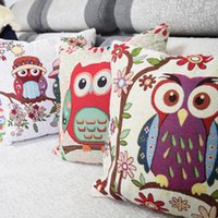 Wholesale Clever owls cotton linen comfort kids bedding sets pillowcase new kids gift pillow cover Wedding Decoration